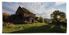 Medieval Tezharuyk Monastery During Amazing Sunrise, Armenia Beach Towel