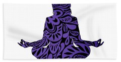 Meditate Ultraviolet Beach Towel