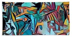 Meditating On And Contemplating Abstract Art Creates A Space Of Pure Perception Where Hope And Fear  Beach Towel
