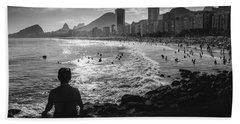 Meditation At Copacabana, Rio De Janeiro, Brazil Beach Sheet