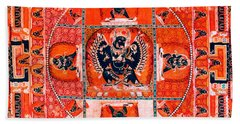 Meditation Yoga Mandala Yuan Dynasty Beach Sheet