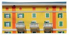 Mediterranean Colours On Building Facade Beach Towel