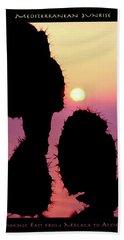 Mediterranean Sunrise Poster Beach Towel