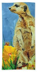 Meerly Curious Beach Towel by Tom Riggs