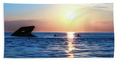 Meet Me At Sunset Beach Towel