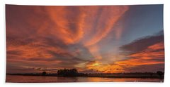 Beach Towel featuring the photograph Mekong Sunset 3 by Werner Padarin