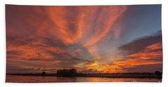 Mekong Sunset 3 Beach Towel