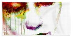 Melancholy In Watercolor Beach Towel