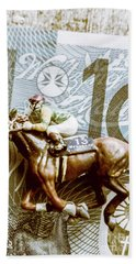Melbourne Cup Wager Beach Towel