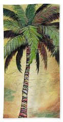 Mellow Palm I Beach Sheet by Kristen Abrahamson