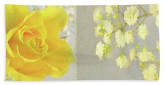 Beach Towel featuring the photograph Mellow Yellow by Lyn Randle