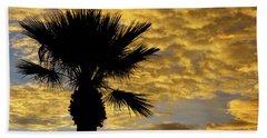Mellow Yellow Sunset Beach Towel