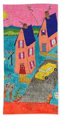 Melon Houses Beach Towel