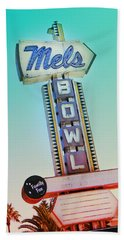 Mels Bowl Retro Sign Beach Towel