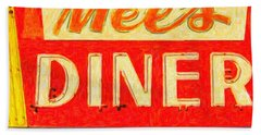 Beach Towel featuring the photograph Mels Diner by Wingsdomain Art and Photography