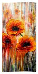Melting Flowers Beach Towel