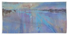 Melting Reflections Beach Sheet by Laura Lee Zanghetti
