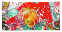 Melting Winter Away - Colorful Abstract Prints Beach Towel by Modern Art Prints