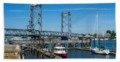 Memorial Bridge Portsmouth Beach Towel
