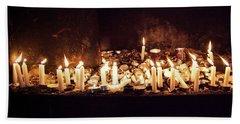Memorial Candles Beach Sheet