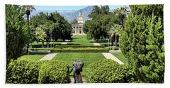 Memorial Chapel University Of Redlands Beach Towel by Mariola Bitner