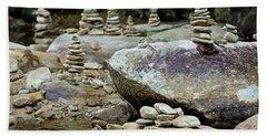 Memorial Stacked Stones Beach Towel