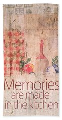 Memories Are Made In The Kitchen Beach Sheet
