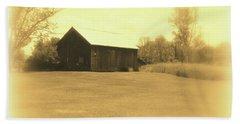 Memories Of Long Ago - Barn Beach Sheet by Susan Lafleur