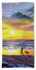 Memories Of My Father Beach Sheet by Laura Iverson