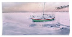 Beach Sheet featuring the photograph Memories Of Seasons Past - Prisoner Of Ice by John Poon