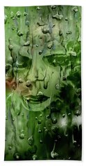 Beach Towel featuring the digital art Memory In The Rain by Darren Cannell