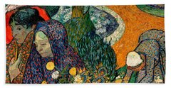 Beach Towel featuring the painting Memory Of The Garden At Etten by Van Gogh