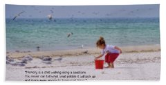 Beach Towel featuring the photograph Memory by Peggy Hughes