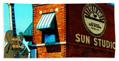 Memphis Sun Studio Birthplace Of Rock And Roll 20160215sketch Sq Beach Towel