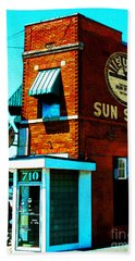 Memphis Sun Studio Birthplace Of Rock And Roll 20160215sketch Beach Towel