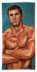 Man Sweat Beach Towel
