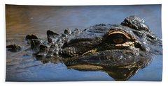 Menacing Alligator Beach Towel