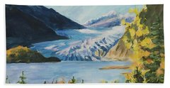 Mendenhall Glacier Juneau Alaska Beach Towel
