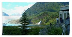 Beach Towel featuring the photograph Mendenhall Glacier View From Center by Janette Boyd