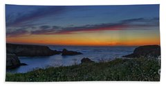 Mendocino Headlands Sunset Beach Towel