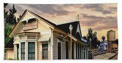 Menlo Park Station Beach Towel by Ron Chambers