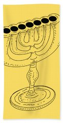 Menorah 1 Beach Towel