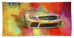 Merc Hot Rod Beach Towel