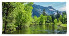 Merced River In Yosemite Valley Beach Towel