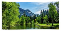 Merced River In Yosemite Valley Beach Towel
