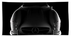 Mercedes 300 Sl Roadster - Front View Beach Towel