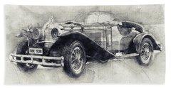 Mercedes-benz Ssk - 1928 - Automotive Art - Car Posters Beach Towel