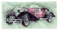 Mercedes-benz Ssk 3 - 1928 - Automotive Art - Car Posters Beach Towel