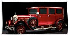 Mercedes-benz Typ 300 Pullman Limousine 1926 Painting Beach Towel