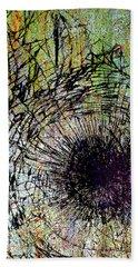 Beach Towel featuring the mixed media Mercy by Tony Rubino